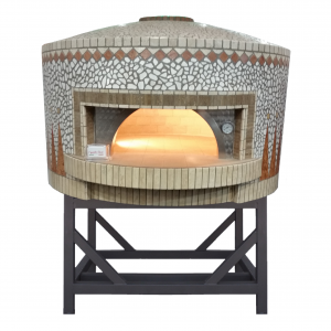 Esposito Forni mosaic coated wood fired oven