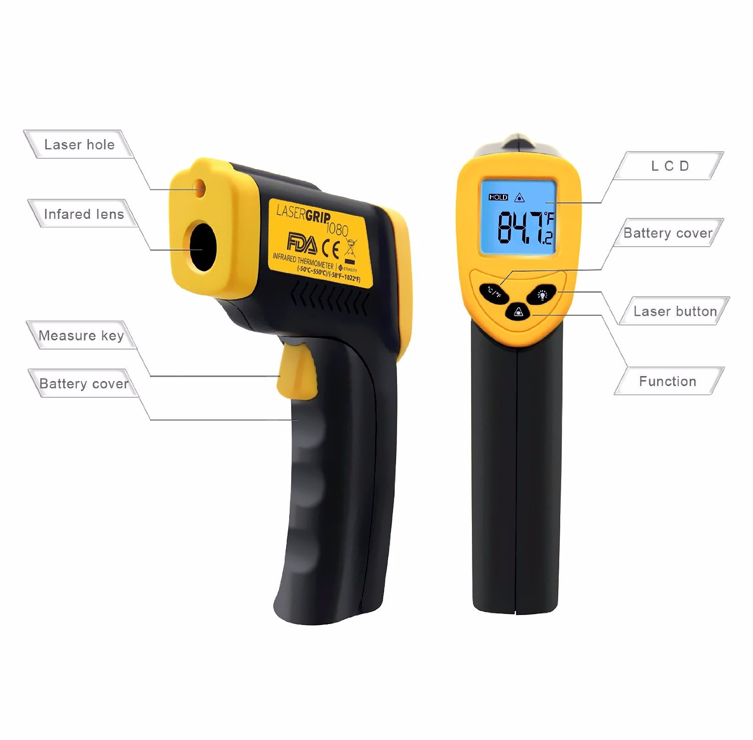 550 Celcius Infrared Thermometer