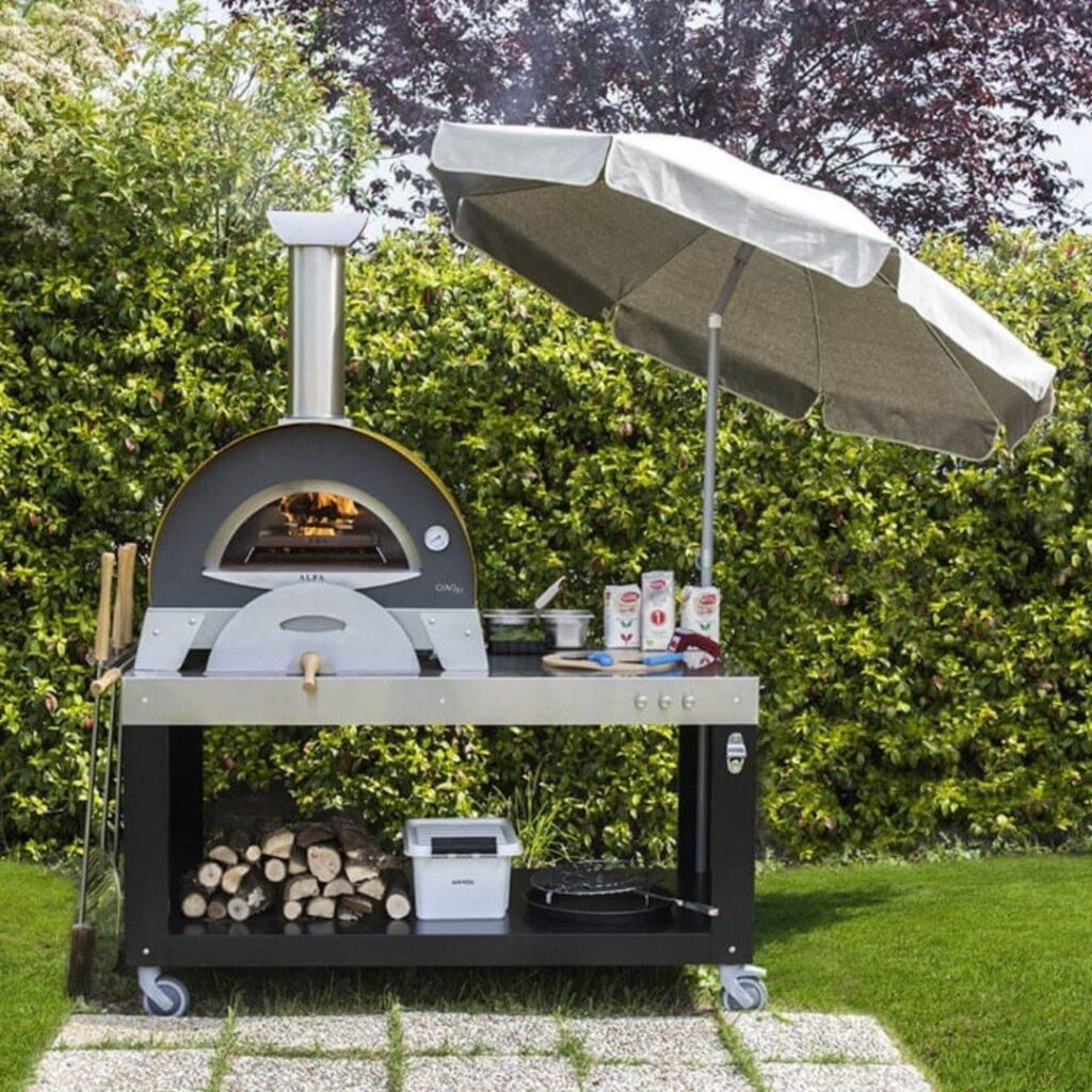 Alfa Ciao Pizza Oven on Multifunction base